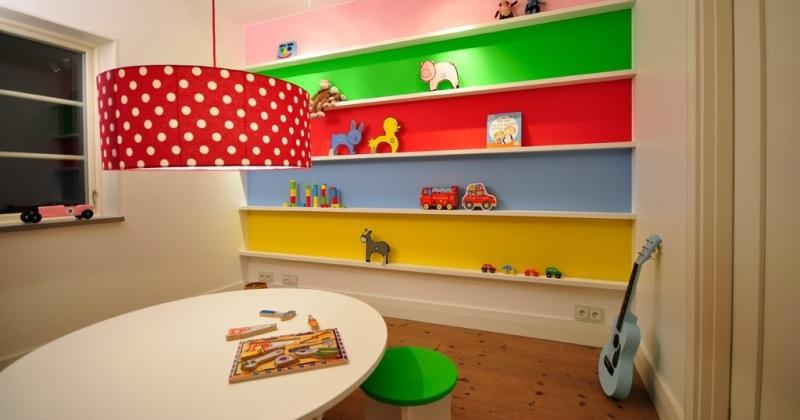 Rainbow kids room design ideas