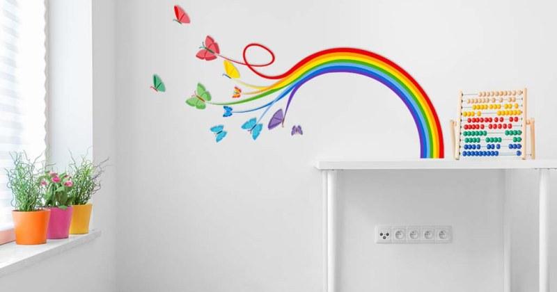 Rainbow kids wall art