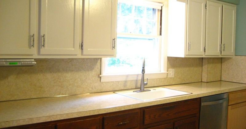Removing laminate backsplash kitchen