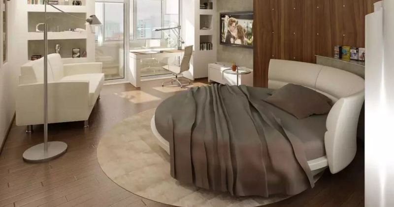 Round bed design images