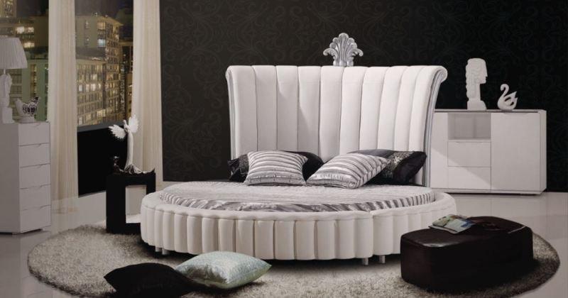 Round bed design modern design