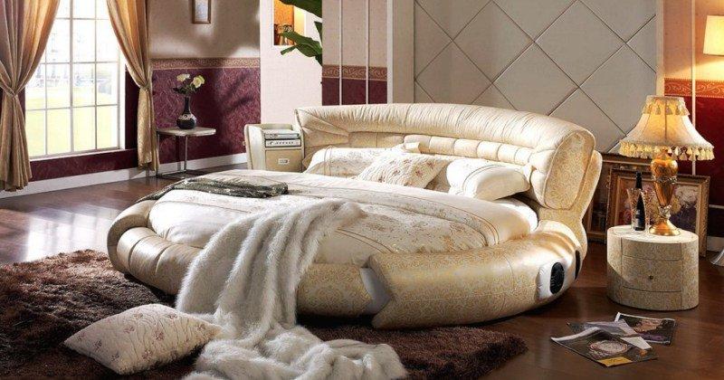Round bed designs in bedroom