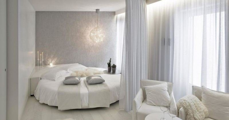 Round bed designs with curtains
