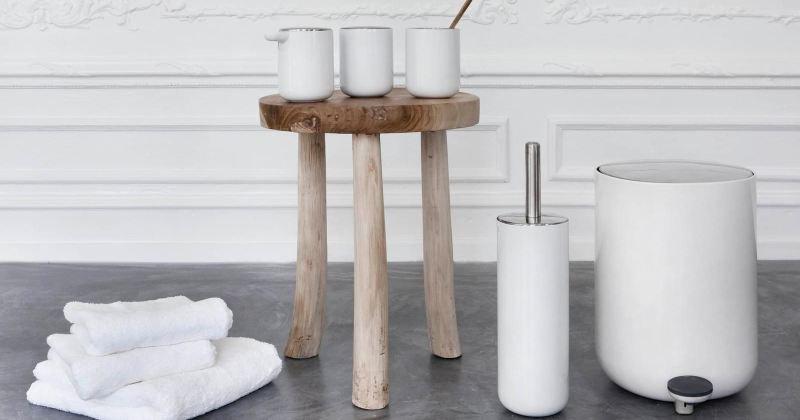 Scandinavian design bathroom accessories