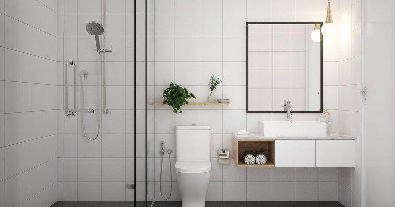 Scandinavian design bathroom lighting