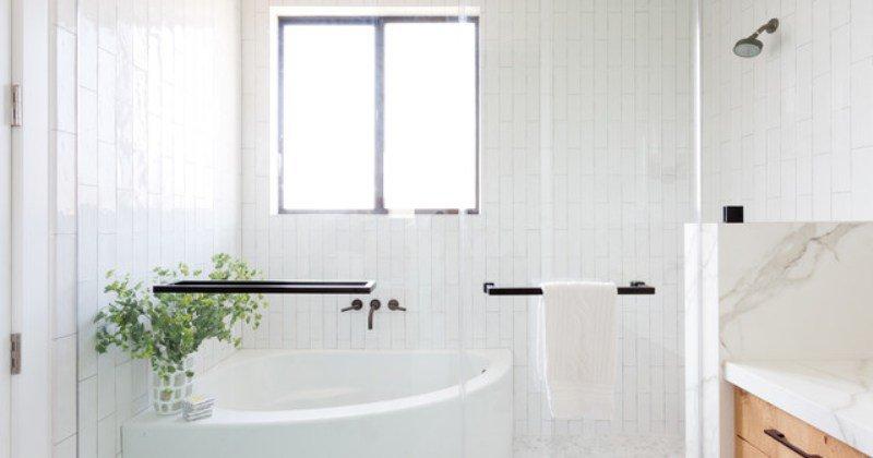 Scandinavian farmhouse bathroom