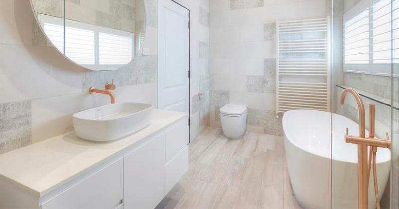 Scandinavian modern bathroom design