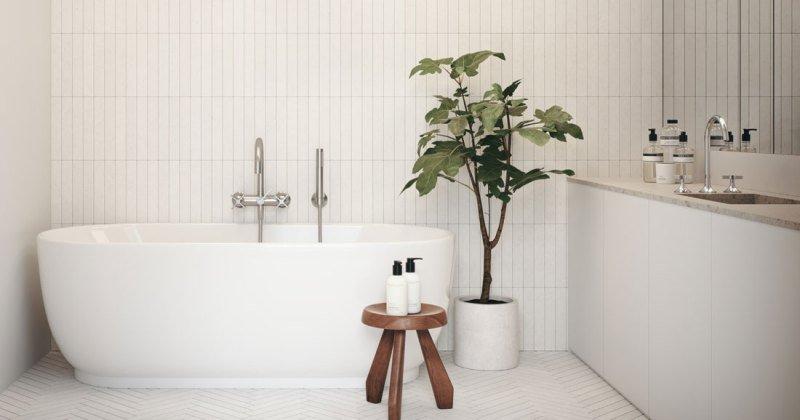 Scandinavian modern bathroom