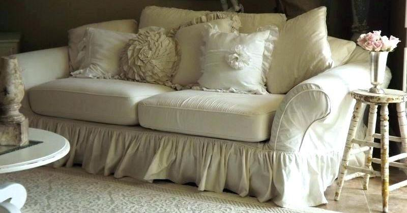 Shabby chic couch slipcovers