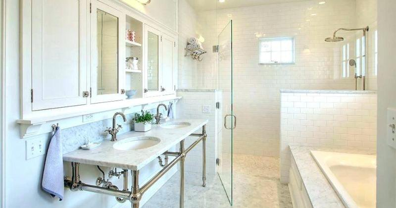 Shower enclosure half wall