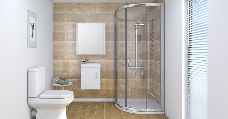 Simple clean bathroom design modern