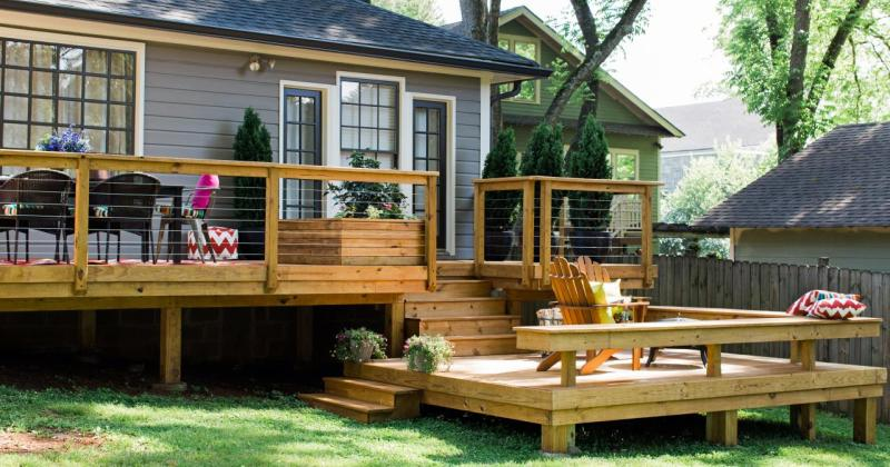 Simple deck design plans