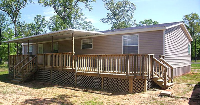 Simple deck designs for mobile homes
