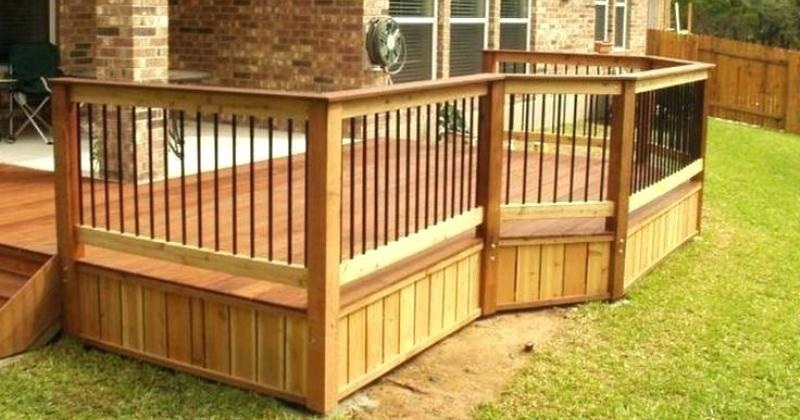 Simple deck railing designs