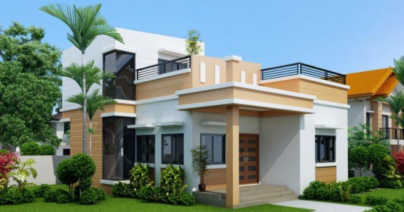 Simple house design with roof deck