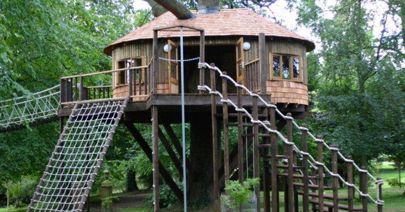 Simple treehouse design ideas