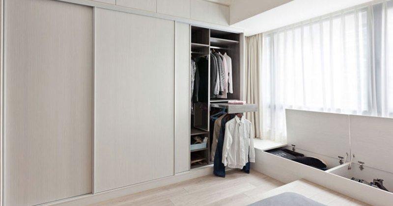Sliding wardrobe closet