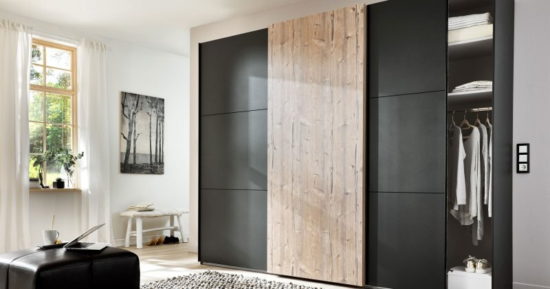 Sliding wardrobe furniture