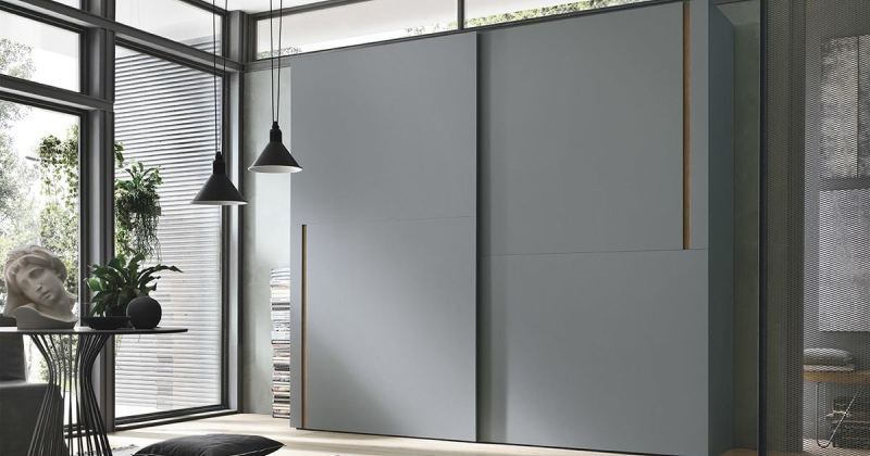 Sliding wardrobe grey