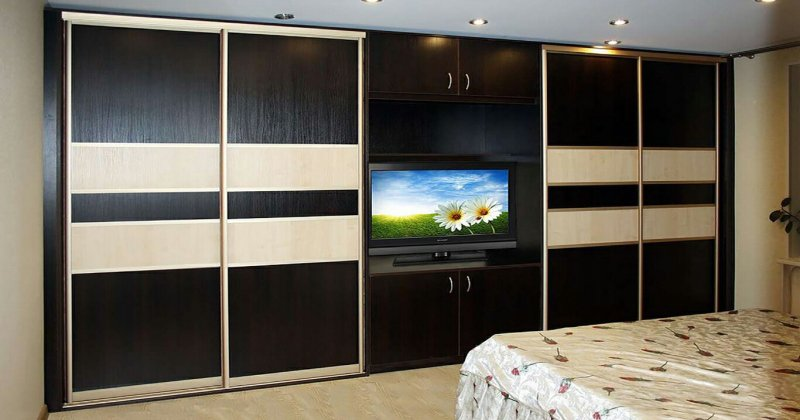 Sliding wardrobe tv