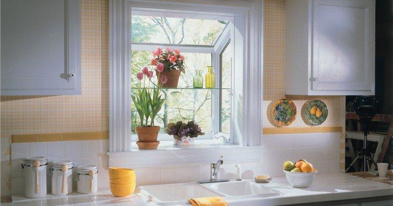 Small garden window for kitchen
