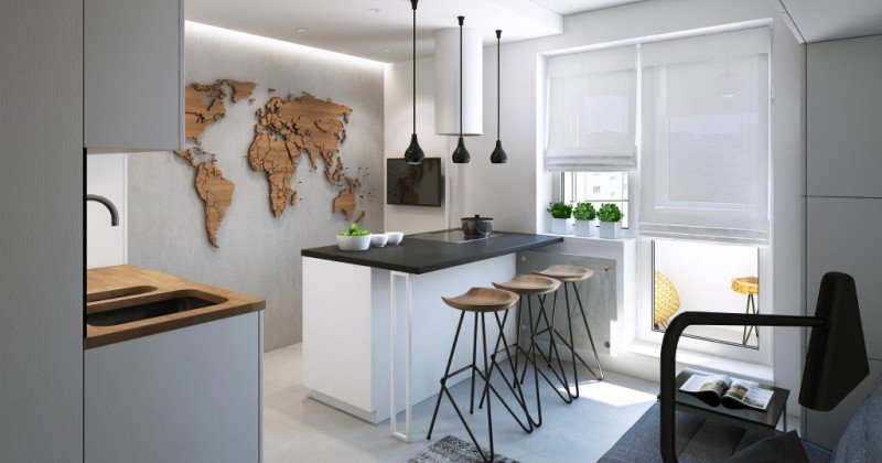 Small kitchen design for apartment