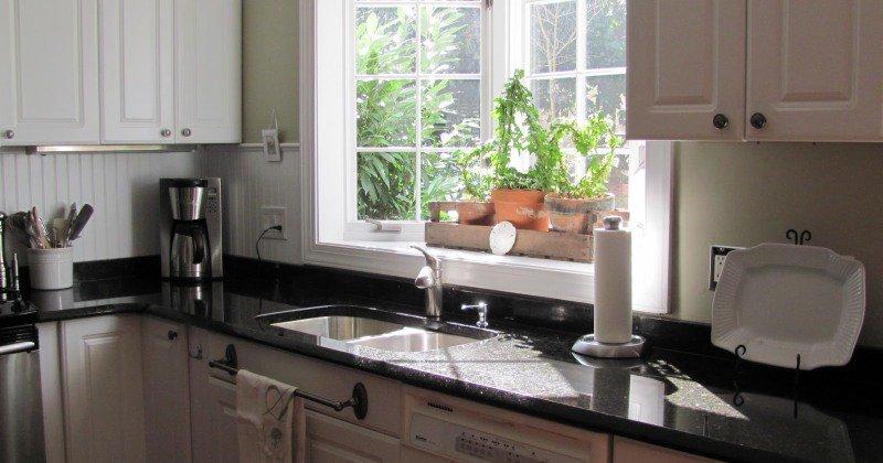 Small kitchen garden windows