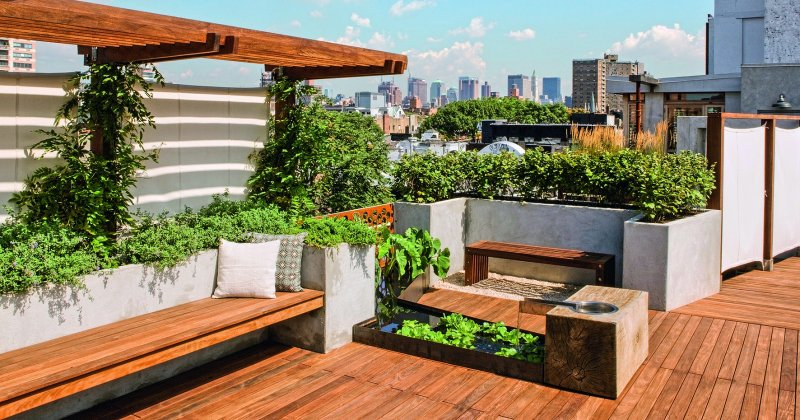 Small roof terrace design
