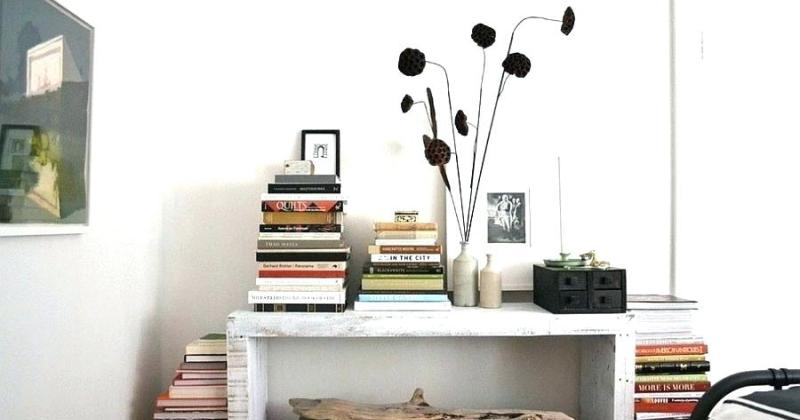 Stacked books decor decorating styles