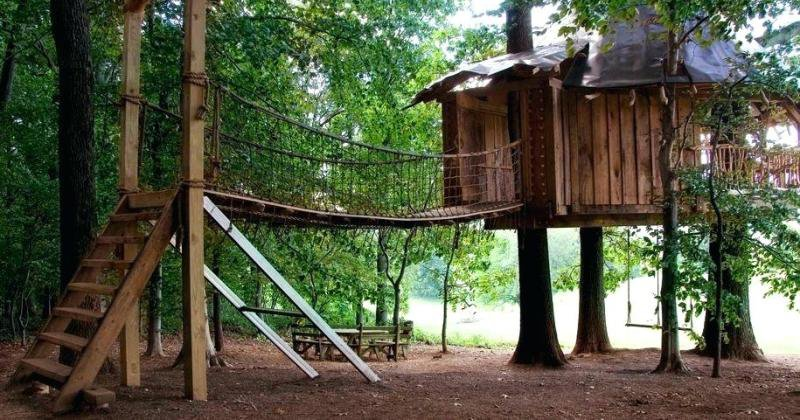 Treehouse ladder ideas