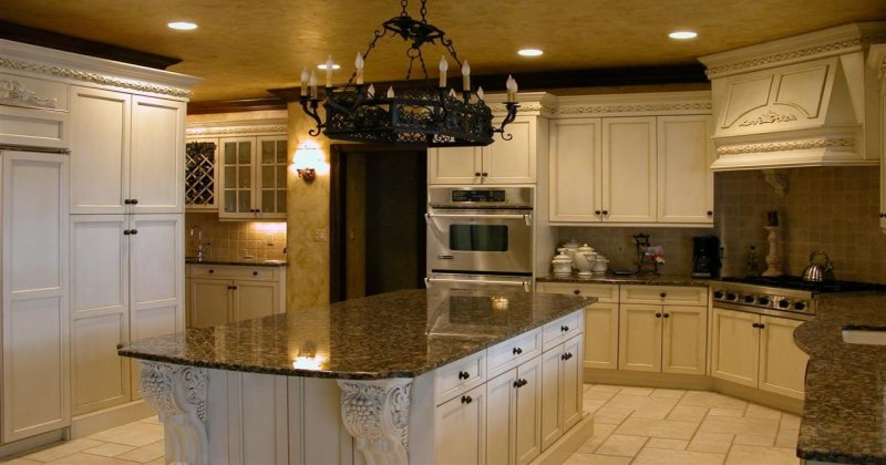 Tuscan style kitchen chandeliers