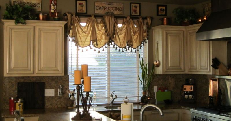 Tuscan style kitchen curtains
