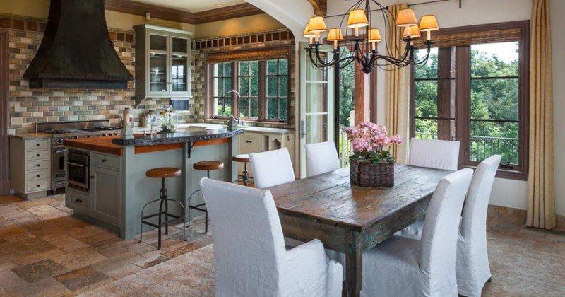 Tuscan style kitchen island