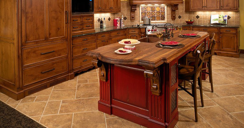 Tuscan style kitchen table