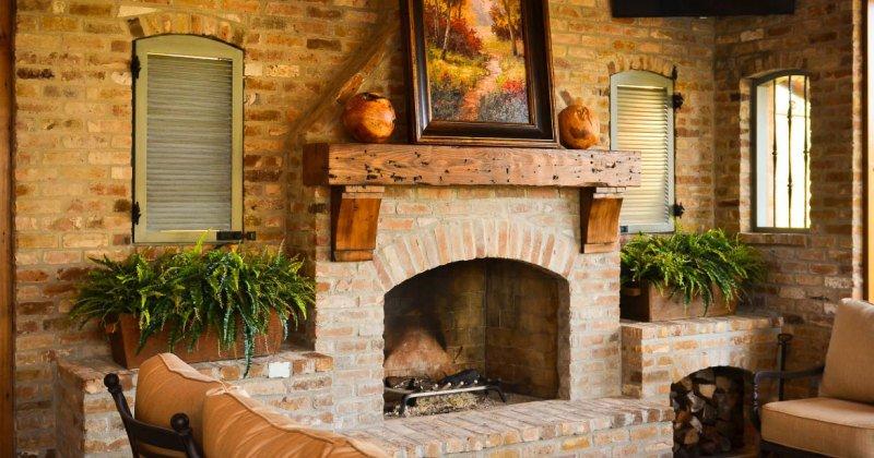 Unique fireplace mantels