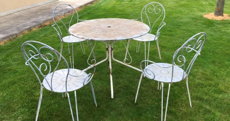 Vintage french garden furniture