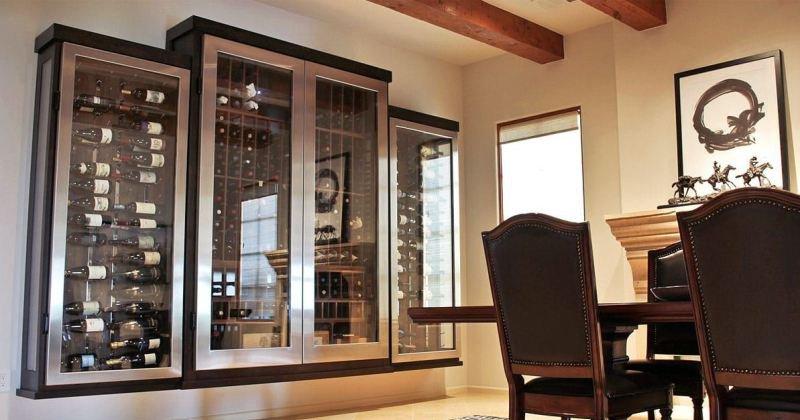 Wine glass cabinet design