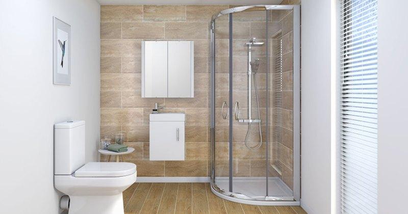 A small bathroom design