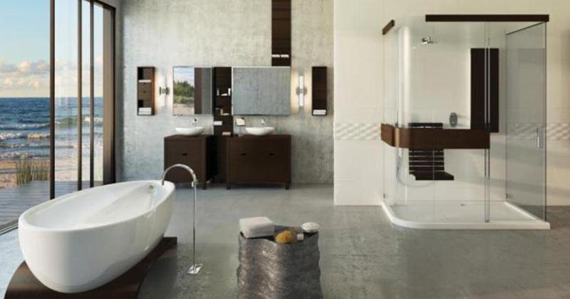 Bathroom interior elegant
