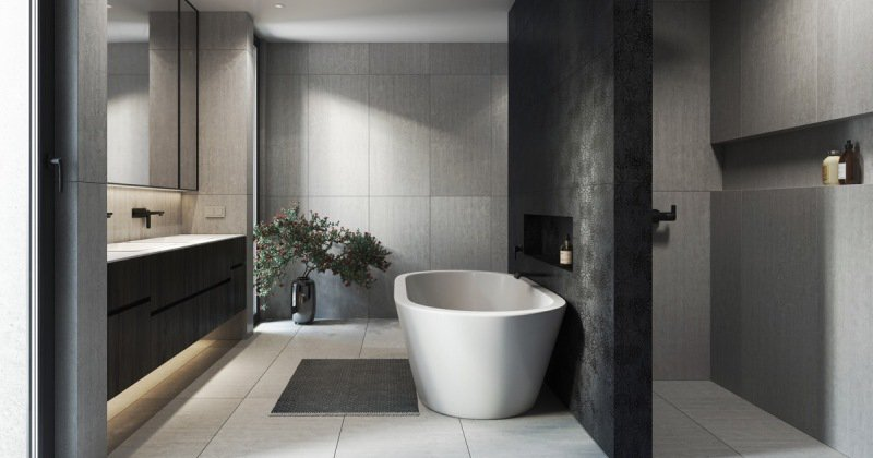 Bathroom interior modern