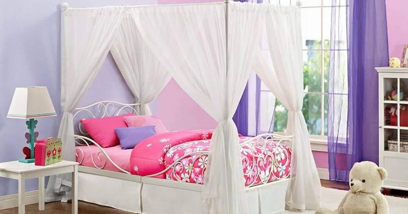 Bed canopy girl bedroom