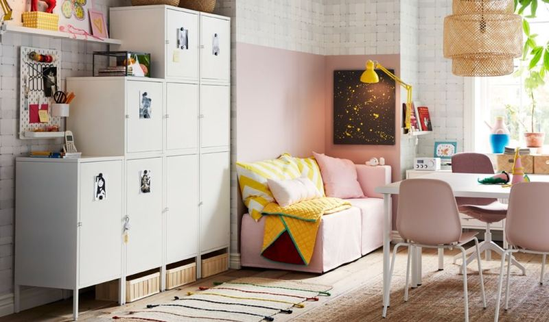 Bedroom storage lockers