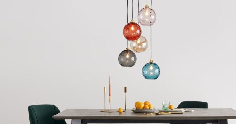 Blown glass cluster pendant lights