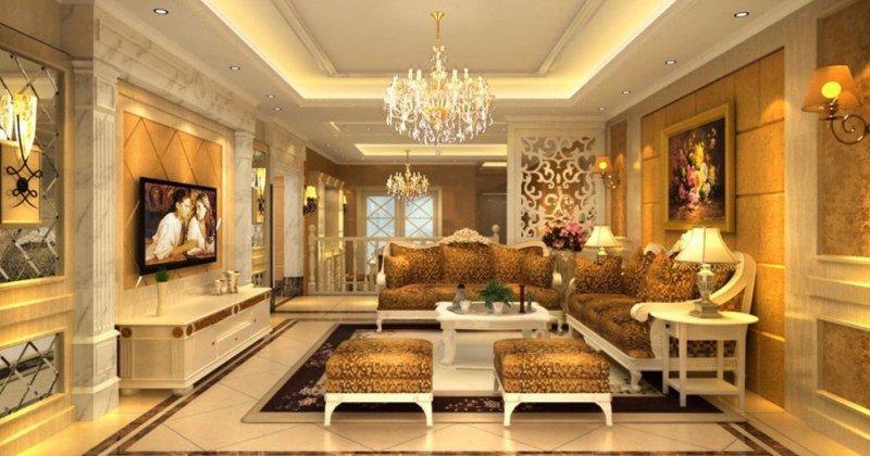Classic french luxury interior design