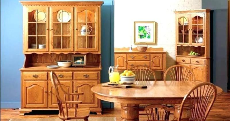 Corner hutch dining room furniture