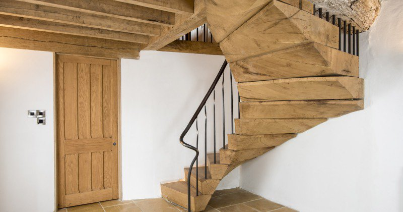 Creative Function on Rustic Stairs