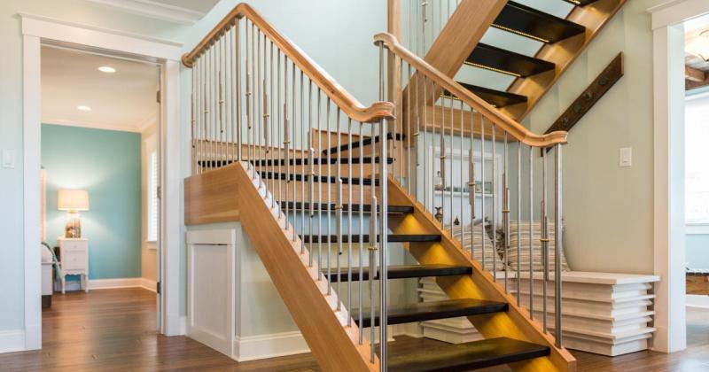 DIY rustic staircase