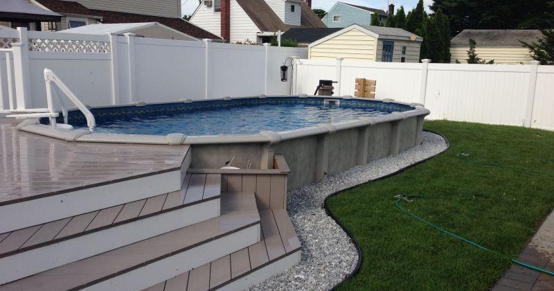 Decks for semi inground pools