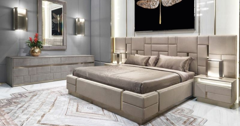 Glamorous Bed Design for Cool Bedroom