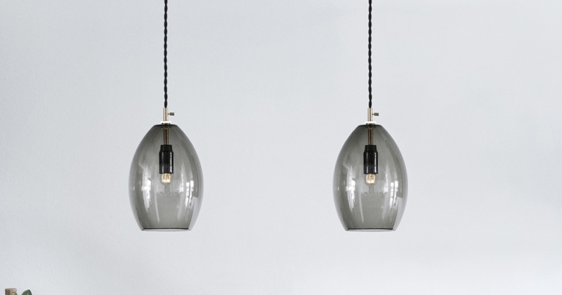 Hand blown glass pendant lights uk